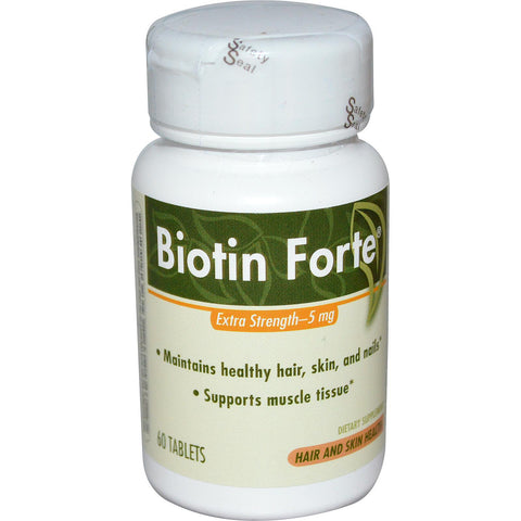 Enzymatic Therapy Biotin Forte, 5 mg- 60 tab