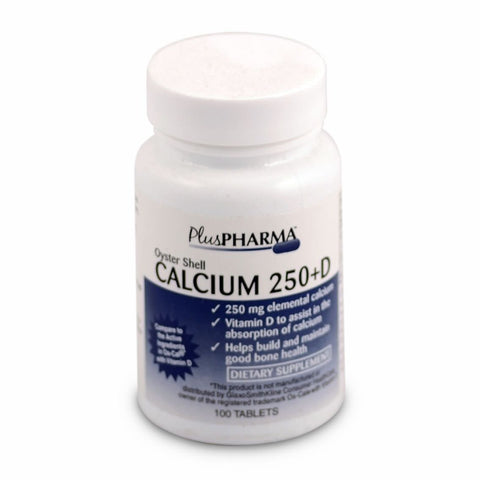 Major Pharm Oyster Shell Calcium,  with Vitamin D,  250 mg- 100 tab