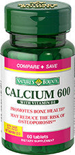 Nature's Bounty Calcium 600 Plus Vitamin D3, 250 tablets