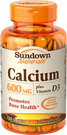 Sundown Calcium 600mg Plus Vitamin D3, 120 caplets