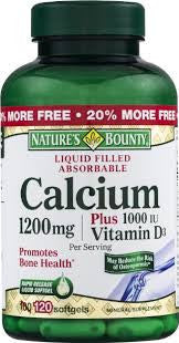 Nature's Bounty Calcium plus Vitamin D 1200 mg, 100 soft gels