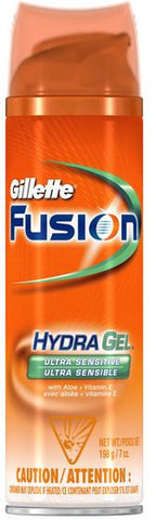 Gillette Fusion HydraGel, Ultra Sensitive, 7 oz