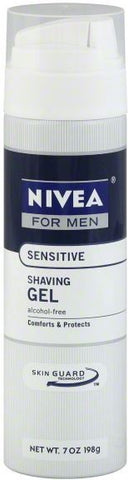 Nivea Shaving Gel, Sensitive, 7 oz