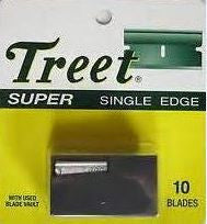 Treet Super Single Edge Blades, 10 ea