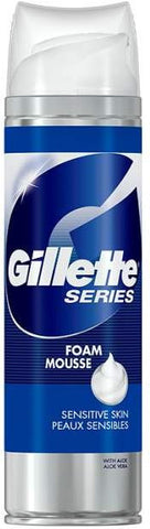 Gillette Shave Foam with Soothing Aloe, Sensitive Skin, 9 oz