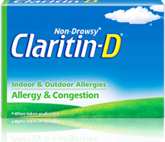 Claritin-D 12 Hour Allergy and Congestion Relief, 10 tablets