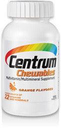 Centrum Adults Chewables, Orange Flavor, 60 tablets