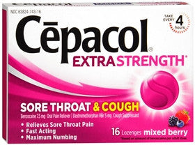 Cepacol Extra Strength Sore Throat & Cough, Mixed Berry, 16 lozenges