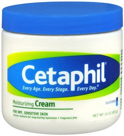 Cetaphil Moisturizing Cream,  Fragrance Free, 16oz