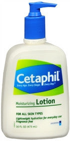 Cetaphil Moisturizing Lotion,  Fragrance Free, 16 oz