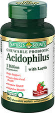 Nature's Bounty Chewable Probiotic Acidophilus with Lactis