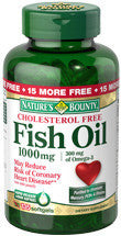 Nature's Bounty Cholesterol Free Fish Oil 1000 mg, 135 softgels