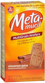 Metamucil Fiber Wafers, Cinnamon, 24 ea