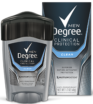 Degree Men Clinical Strength Antiperspirant & Deodorant, Clean, 1.7oz