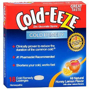 Cold-Eeze Honey Lemon Lozenges, 18 ea