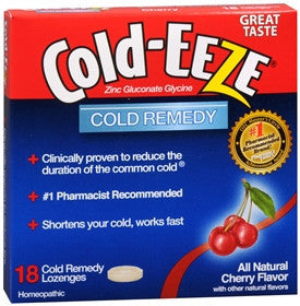 Cold-Eeze Cherry Lozenges, 18 ea