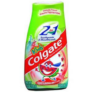 Colgate Kid 2In1 Toothpaste,  Watermelon, 4.2 oz