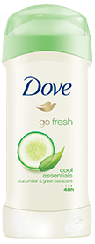 Dove Go Fresh Cool Essentials Anti-Perspirant & Deodorant, 2.6 oz