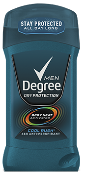 Degree Men Anti-Perspirant Deodorant, Invisible Solid, Cool Rush, 2.7oz