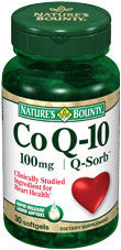 Nature's Bounty CoQ-10 Q-Sorb 100mg, 30 softgels