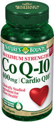 Nature's Bounty Maximum Strength Co Q-10 400mg Cardio Q10, 30 softgels