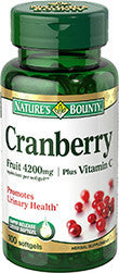 Nature's Bounty Cranberry plus Vitamin C, 100 softgels