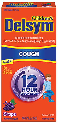 Delsym Children's 12 Hour Cough Relief, Grape, 5 oz