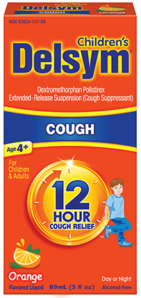 Delsym Children's 12 Hour Cough Relief, Orange, 3 oz