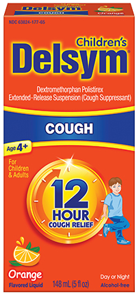 Delsym Children's 12 Hour Cough Relief, Orange, 5 oz