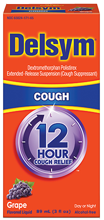 Delsym Adult 12 Hour Cough Relief, Grape, 3 oz