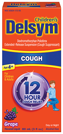 Delsym Children's 12 Hour Cough Relief, Grape, 3 oz