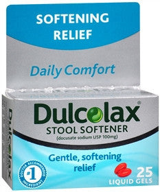 Dulcolax Stool Softener, 25 liquid gels