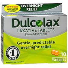 Dulcolax Overnight Relief, 10 tablets