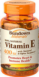 Sundown Vitamin E 400 IU D-Alpha, 100 softgels