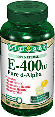 Nature's Bounty E-400 IU Pure d-Alpha, 120 softgels