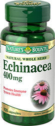 Nature's Bounty Echinacea 400mg, 100 capsules