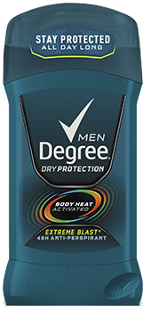 Degree Men Anti-Perspirant Deodorant, Invisible Solid, Extreme Blast, 2.7oz