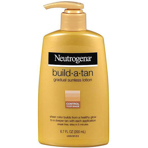 Neutrogena Build-a-Tan Gradual Sunless Tanning, 6.7 oz