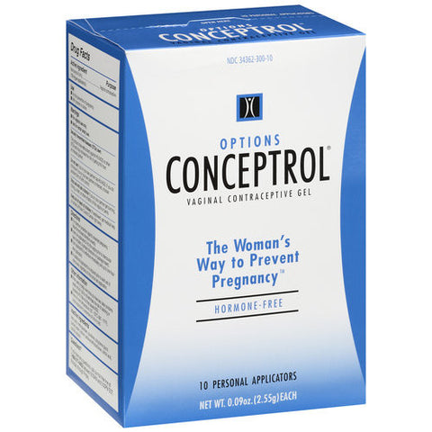 Conceptrol Vaginal Contraceptive Gel, 10 Units 0.09 oz