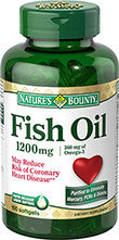 Nature's Bounty Fish Oil 1200 mg, 180 softgels