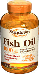 Sundown Fish Oil 1000 mg, 200 softgels