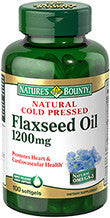 Nature's Bounty Flaxseed Oil 1200 mg, 100 softgels