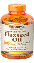 Sundown Flaxseed Oil 1000mg, 100 softgels
