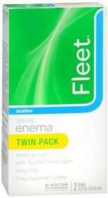Fleet Enema, Saline Laxative, Twin Pack