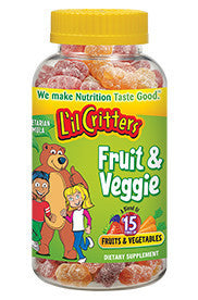 Lil Critters Fruit & Veggie Gummy Bears, 60 gummies