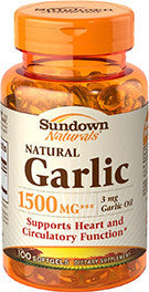 Sundown Garlic, 1500mg, 100 softgels