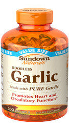 Sundown Odorless Garlic, 100 softgels