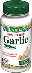 Nature's Bounty Odor-Free Garlic 2000mg, 120 tablets