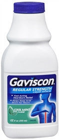 Gaviscon Liquid Antacid, Regular Strength, Cool Mint, 12oz