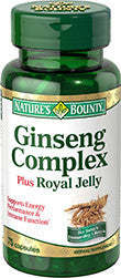 Nature's Bounty Ginseng plus Royal Jelly, 75 capsules